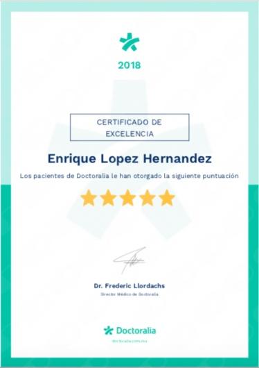 Certificado de Excelencia Doctoralia 2018
